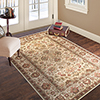 Lavish Home Vintage Flowered Rug - Ivory - 5' x 7'7