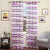 Set of 2 Lavish Home Sonya Grommet Curtain Panel- Violet