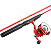 Fishing Rod and Reel Combo with Tackle Set, Spinning Reel Fishing Pole, Gear for Pond Fishing, Great for Kids, Red - Spawn Series by Wakeman
