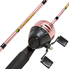 Fishing Pole ? 64-Inch Fiberglass and Stainless Steel Rod and Pre-Spooled Reel Combo for Lake, Pond and Stream Casting by Wakeman Outdoors (Pink)