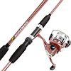 Fishing Rod and Reel Combo, Spinning Reel, Fishing Gear for Bass and Trout Fishing, Great for Kids, Pink - Swarm Series by Wakeman