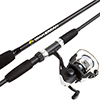 Fishing Rod and Reel Combo, Spinning Reel, Fishing Gear for Bass and Trout Fishing, Great for Kids, Black - Swarm Series by Wakeman