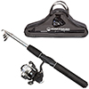 Fishing Rod and Reel Combo, Spinning Reel, Telescopic Pole, Fishing Gear for Lake Fishing, Black - Ultra Series by Wakeman