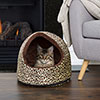 PETMAKER Cozy Canopy Pet Cave Bed ?  Cheetah Print ? 16x12x14.5