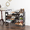 Shoe Rack, Stackable Storage Bench ? Closet, Bathroom, Kitchen, Entry Organizer, 4-Tier Space Saver Shoe Rack by Everyday Home
