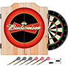Budweiser Dart Cabinet Includes Darts and Board