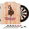 Budweiser Dart Cabinet Set with Darts and Board - Clydesdale Red