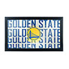 NBA Framed Logo Mirror - City  - Golden State Warriors
