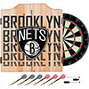 NBA Dart Cabinet Set with Darts and Board - City  - Brooklyn Nets