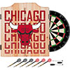 NBA Dart Cabinet Set with Darts and Board - City  - Chicago Bulls