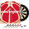 NBA Dart Cabinet Set with Darts and Board - Fade  - Washington Wizards