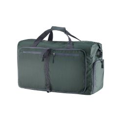 Duffle Gym Bag - Luggage Tote for Overnight / Weekend Trips - Includes Shoe Compartment and Outer Pockets for Storage by Wakeman Outdoors (GREEN/28
