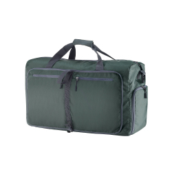 Duffle Gym Bag - Luggage Tote for Overnight / Weekend Trips - Includes Shoe Compartment and Outer Pockets for Storage by Wakeman Outdoors (GREEN/24