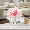 Lily Artificial Floral Arrangement with Vase and Faux Water- Fake Flowers for Home D�cor, Weddings, Shower Centerpiece by Pure Garden (Pink)