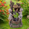 Children at the Well Water Fountain with LED Lights- Lighted Outdoor Fountain with Antique Design for D�cor on Patio, Lawn and Garden by Pure Garden