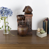 Tabletop Water Fountain With Rustic Jugs and LED Lights - Tiered Vase Table Fountain by Pure Garden (Office, Patio and Home D�cor)