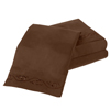 Embroidered Brushed Microfiber Sheets Set- Soft, Hypoallergenic, Wrinkle Resistant 4 Piece Sheet Set by Lavish Home (Full) (Chocolate)