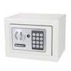 Digital Security Safe Box for Valuables - Compact Steel Lock Box with Electronic Combination Keypad by Stalwart- Grey