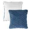Modern Geometric Decorative Throw Pillow and Insert- Home D�cor Diagonal Stripe Accent Pillow with Hidden Zipper, 18 Inch by Lavish Home ?Navy Blue