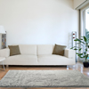 Lavish Home High Pile Shag Rug Carpet - Warm Grey - 30x60