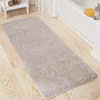Lavish Home Memory Foam Shag Bath Mat 2-feet by 5-feet - Warm Grey
