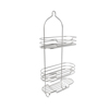 Tall Shower Caddy with Shelves and Hooks- Showerhead Bath Organizer with Non Slip Grip and Rustproof Corrosion Resistant Satin Finish by Lavish Home