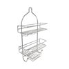 3-Tier Shower Caddy with Shelves and Hooks- Non Slip Grip Showerhead Bath Organizer with Rustproof Corrosion Resistant Satin Finish by Lavish Home