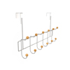 Over the Door Organizer Rack- Hanging Clothing and Storage Rack for Robes, Towels, Coats, Scarves, Hats- 6 Double Hooks by Lavish Home