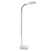 Natural Full Spectrum Sunlight Reading and Crafting Floor Lamp by Lavish Home (Chrome) - Adjustable Gooseneck