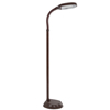 Natural Full Spectrum Sunlight Reading and Crafting Floor Lamp by Lavish Home (Dark Woodgrain) - Adjustable Gooseneck