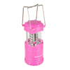 LED Lantern, Collapsible and Portable LED Outdoor Camping Lantern Flashlight for Hiking, Camping and Emergency By Wakeman Outdoors (Pink)