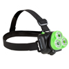 LED Headlamp, Adjustable Head Lamp Handsfree Flashlight with 120 Lumen and 3 LED, For Camping, Hiking, and Emergency By Wakeman Outdoors (Green)