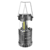 COB LED Collapsible Camping Lantern With Magnetic Base, Handles and Adjustable Light- 180 Lumen Portable Outdoor Flashlight by Wakeman (Grey)