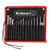 Punch And Chisel Set, 16 Pieces- Includes Taper Punches, Cold Chisels, Pin Punches, Center Punches, Chisel Gauge, and Storage Case- By Stalwart