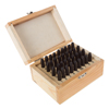 Letter and Number Steel Stamp Set, 36 Piece Stamping Punch and Die With Wood Storage Case- Letters (5/32?,4mm) / Numbers (9/64?,3.6mm)  By Stalwart
