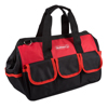 Soft Sided Tool Bag With Wide-Mouth Storage, Storage Pockets and Carrying Strap- Durable 12 Inch Pouch for Tools and Organization By Stalwart (Red)