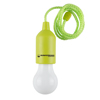 Pull Cord Light-  Portable LED Outdoor/Indoor Hanging Bulb Lantern for Camping, Home Garage, Patio, and Tent Lighting by Wakeman Outdoors (Green)