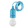 Pull Cord Light-  Portable LED Outdoor/Indoor Hanging Bulb Lantern for Camping, Home Garage, Patio, and Tent Lighting by Wakeman Outdoors (Blue)