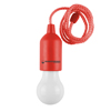 Pull Cord Light-  Portable LED Outdoor/Indoor Hanging Bulb Lantern for Camping, Home Garage, Patio, and Tent Lighting by Wakeman Outdoors (Red)