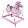 Spring Rocking Horse- Plush Ride-On Toy Pony for Kids, Interactive Sounds & Adjustable Foot Straps for Boys & Girls 3+ Years Old by Happy Trails