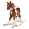 Rocking Horse Plush Animal on Wooden Rockers with Sounds, Stirrups, Saddle & Reins, Ride on Toy, Toddlers Old by Happy Trails ? Clydesdale