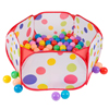 Kids Pop-up Six-sided Ball Pit Tent with 200 Colorful and Soft Crush-proof Non-toxic Plastic Balls for Toddlers Boys and Girls by Hey! Play!
