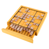 Wood Sudoku Board Game Set- Complete Set With Number Tiles, Wooden Game Board and Puzzle Book- Number Thinking Game for Adults and Kids by Hey! Play!