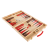 Wood Backgammon Board Game- Complete Set With Folding Board for Storage, Portable Handle, and Full Game Accessories for Adults and Kids by Hey! Play!