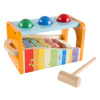 Wooden Bench Toy with Musical Xylophone and Interactive Pounding Hammer and Balls, Educational Toy for Toddlers, Babies, and Kids by Hey! Play!