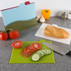 Plastic Cutting Board Set- 5 Piece Color Coded Durable Boards With Icons For Food Safety in Space Saving Storage Case- FDA Approved By Classic Cuisine