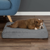 Orthopedic Pet Bed - Egg Crate and Memory Foam with Washable Cover 26x19x4 by PETMAKER - Gray