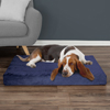 Orthopedic Pet Bed - Egg Crate and Memory Foam with Washable Cover 37x24x4 by PETMAKER - Navy
