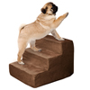 High Density Foam Pet Stairs 3 Steps with Machine Washable Zippered Removeable Micro-Fiber Cover with non-slip bottom by PETMAKER ? Brown