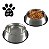 Stainless Steel Pet Bowls with Non Slip Rubber Bottom for Dogs and Cats-Feeder Dish for Food and Water- Set of 2, 16 Oz Each By PETMAKER